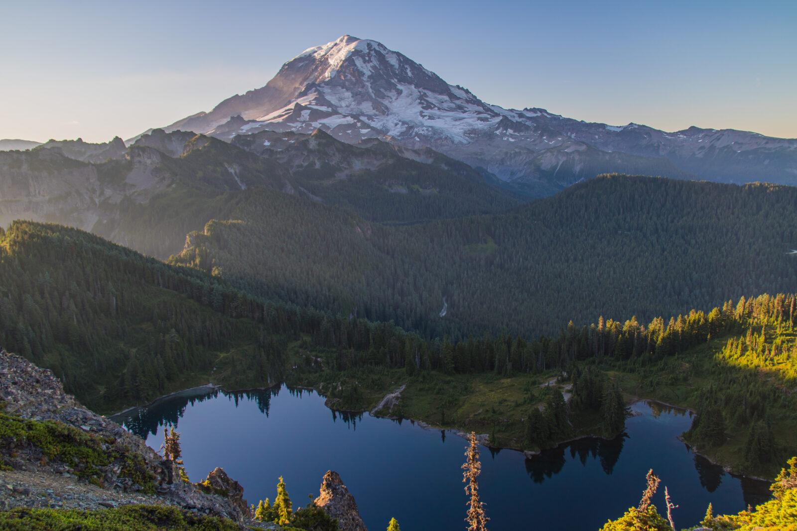 PNW Elopement Photographer, Eloping in nature, View of Tolmie Peak in Mount Rainier National Park