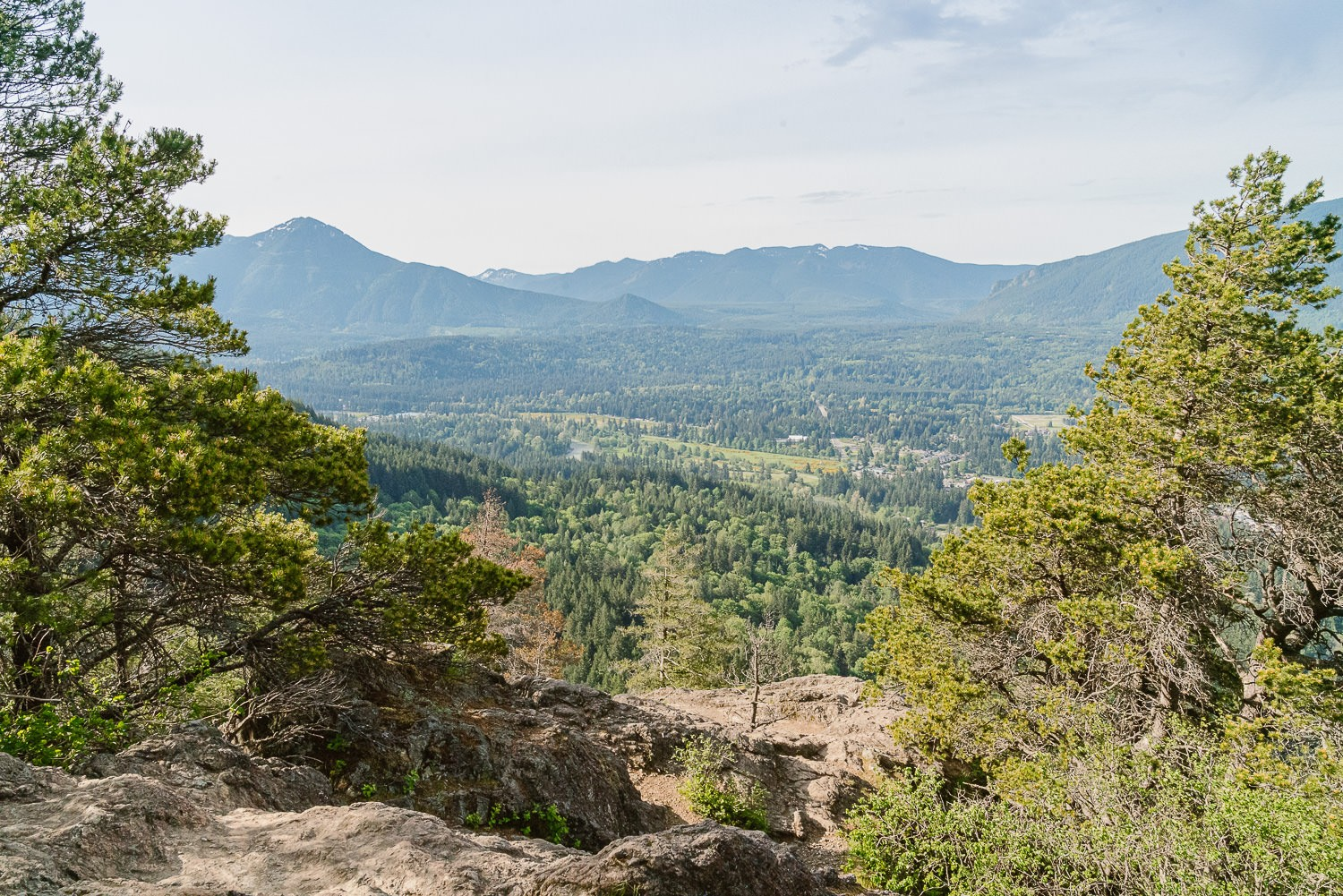 Snoqualmie Valley Elopement Photographer, View of North Bend from the top of Little Si