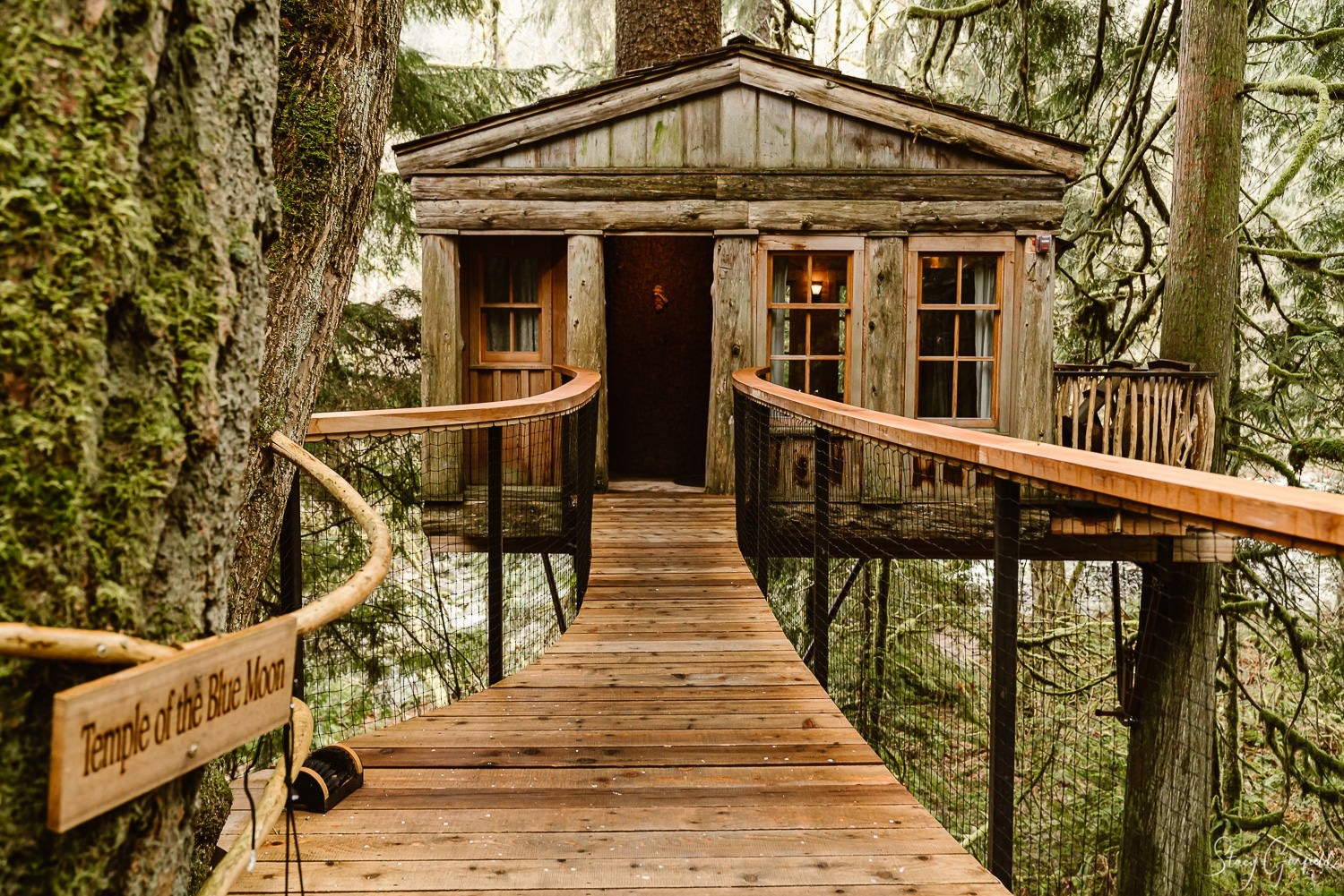 Snoqualmie Valley Elopement Photographer, Tree House Point, Temple of the Blue Moon