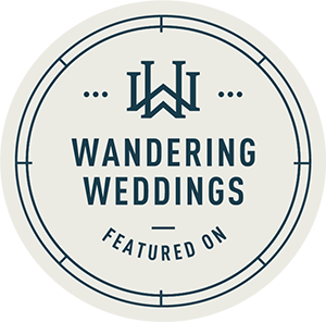 Featured on Wandering Weddings badge